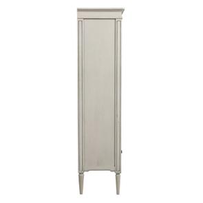 Vitrine 2 portes vitrées en pin blanc craie - Montaigne - Visuel n°8