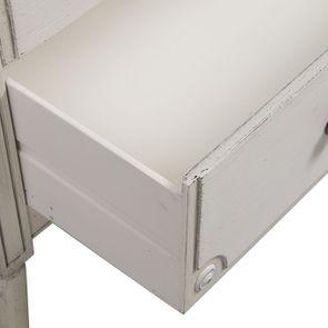 Commode 3 tiroirs en pin blanc craie - Montaigne - Visuel n°12