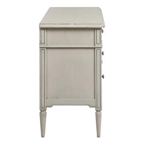 Commode 3 tiroirs en pin blanc craie – Montaigne - Visuel n°6