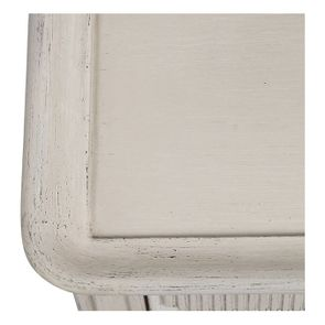 Table basse 4 tiroirs en pin blanc craie - Montaigne - Visuel n°15