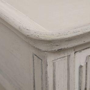 Table basse 4 tiroirs en pin blanc craie - Montaigne - Visuel n°16