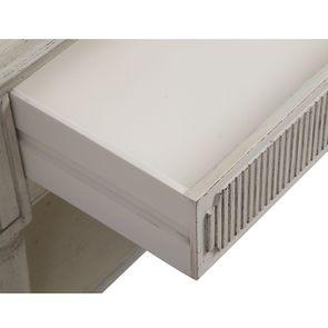 Table basse 4 tiroirs en pin blanc craie - Montaigne - Visuel n°17