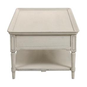 Table basse 4 tiroirs en pin blanc craie - Montaigne - Visuel n°11