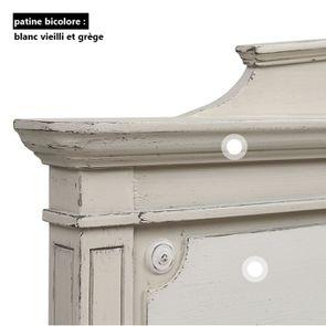 Tête de lit 140/160 cm en pin blanc craie - Montaigne - Visuel n°10