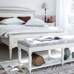 Lit 160x200 en pin blanc craie - Montaigne - Visuel n°4