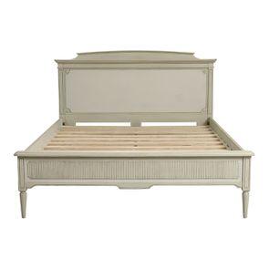 Lit 160x200 en pin blanc craie - Montaigne - Visuel n°7