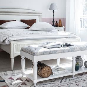 Lit 180x200 en pin blanc craie - Montaigne - Visuel n°4