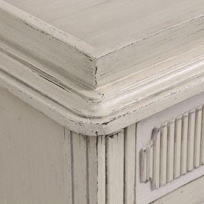 Commode 2 portes 1 tiroir en pin blanc craie - Montaigne - Visuel n°12