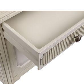 Commode 2 portes 1 tiroir en pin blanc craie - Montaigne - Visuel n°13