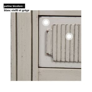 Commode 2 portes 1 tiroir en pin blanc craie - Montaigne - Visuel n°14