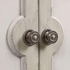 Commode 2 portes 1 tiroir en pin blanc craie - Montaigne - Visuel n°16