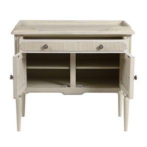 Commode 2 portes 1 tiroir en pin blanc craie - Montaigne - Visuel n°4