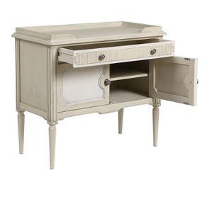 Commode 2 portes 1 tiroir en pin blanc craie - Montaigne - Visuel n°5