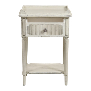 Table de chevet en pin blanc craie - Montaigne - Visuel n°3