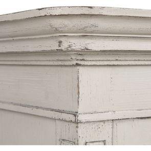Armoire penderie 2 portes 3 tiroirs en pin blanc craie - Montaigne - Visuel n°11