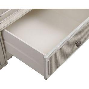 Armoire penderie 2 portes 3 tiroirs en pin blanc craie - Montaigne - Visuel n°12