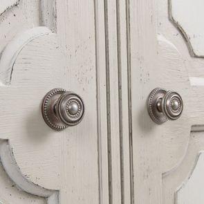 Armoire penderie 2 portes 3 tiroirs en pin blanc craie - Montaigne - Visuel n°14