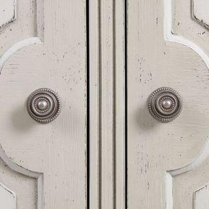 Armoire penderie 2 portes 3 tiroirs en pin blanc craie - Montaigne - Visuel n°15