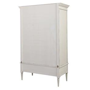 Armoire 2 portes 3 tiroirs en pin blanc craie – Montaigne - Visuel n°8
