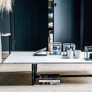 Table basse rectangulaire en marbre blanc – Minéral - Visuel n°5