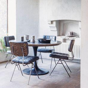 Chaise en métal et cuir - Minéral - Visuel n°3