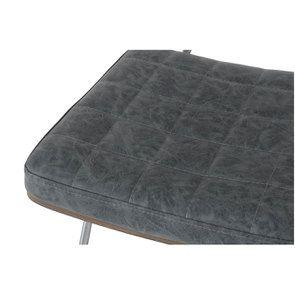 Chaise en métal et cuir - Minéral - Visuel n°10