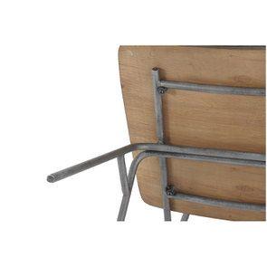 Chaise en métal et cuir - Minéral - Visuel n°6