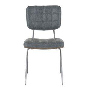 Chaise en métal et cuir - Minéral - Visuel n°1