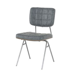Chaise en métal et cuir - Minéral - Visuel n°5