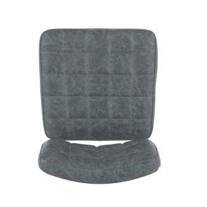 Chaise en métal et cuir - Minéral - Visuel n°7