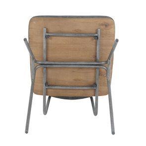 Chaise en métal et cuir - Minéral - Visuel n°8