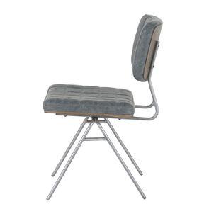 Chaise en métal et cuir - Minéral - Visuel n°9