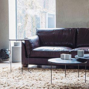 Bout de canapé avec plateau en pierre bleue - Minéral