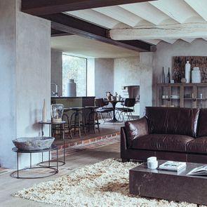 Bout de canapé avec plateau en pierre bleue - Minéral - Visuel n°3