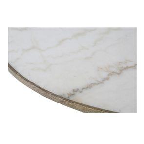 Table ronde plateau en marbre blanc - Minéral - Visuel n°5