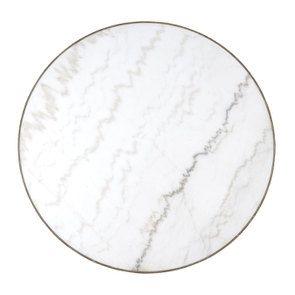 Table ronde plateau en marbre blanc - Minéral - Visuel n°9