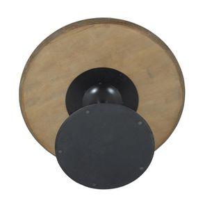 Table ronde plateau en marbre blanc - Minéral - Visuel n°6