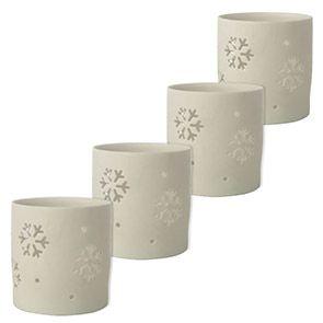 Photophores en porcelaine blanche (lot de 4)