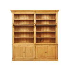 Bibliothèque ouverte 4 portes en épicéa - Natural