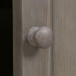 Bibliothèque ouverte 4 portes en épicéa brun fumé grisé - Natural - Visuel n°9