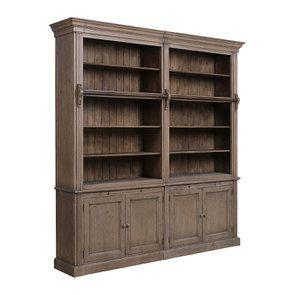 Bibliothèque ouverte 4 portes en épicéa brun fumé grisé - Natural - Visuel n°3