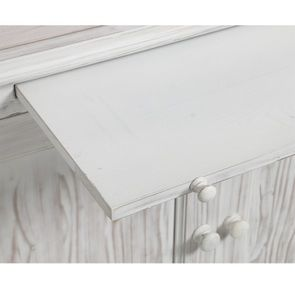 Bibliothèque 2 modules en épicéa massif nuage de blanc - Natural - Visuel n°10