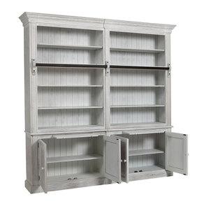 Bibliothèque 2 modules en épicéa massif nuage de blanc - Natural - Visuel n°2