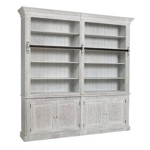 Bibliothèque 2 modules en épicéa massif nuage de blanc - Natural - Visuel n°4