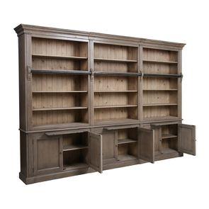 Bibliothèque ouverte 6 portes en épicéa brun fumé - Natural - Visuel n°2