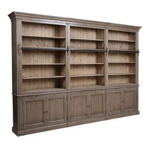 Bibliothèque ouverte 6 portes en épicéa brun fumé - Natural - Visuel n°3
