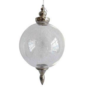 Boules en verre transparent (lot de 2)