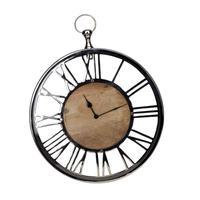 Horloge à gousset en métal chromé - Visuel n°1