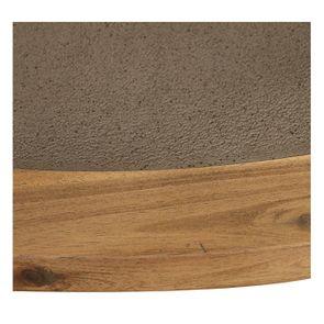 Table basse ronde contemporaine en acacia massif - Organic - Visuel n°9