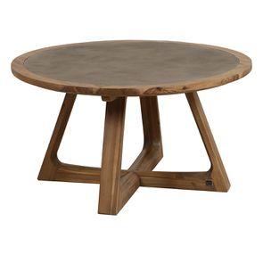 Table basse ronde contemporaine en acacia massif - Organic - Visuel n°3
